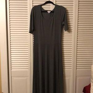 XL Solid Grey Ana Maxi dress
